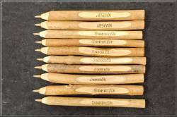 Dřevěné tužky stextem